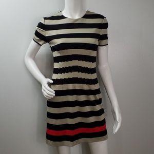 Diane von Furstenberg Dress Sz 6 Pleated Lined